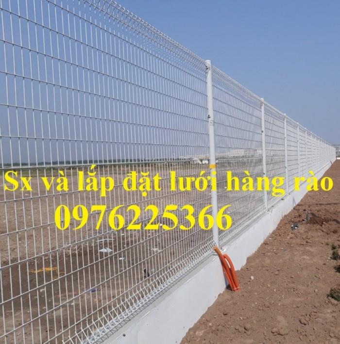 Hàng rào lưới thép mạ kẽm sơn tĩnh điện D5 a50x200 chấn sóng0