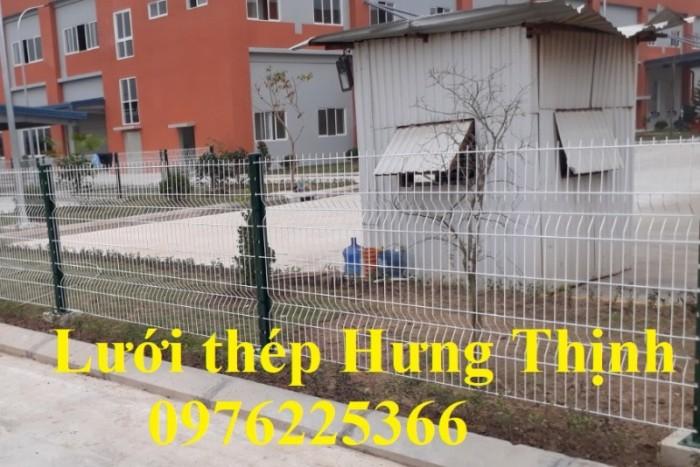 Hàng rào lưới thép mạ kẽm sơn tĩnh điện D5 a50x200 chấn sóng4