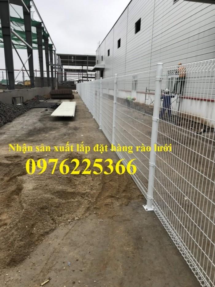 Hàng rào lưới thép mạ kẽm sơn tĩnh điện D5 a50x200 chấn sóng6