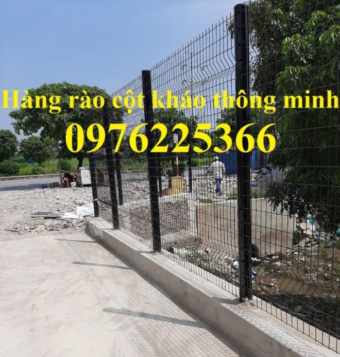 Hàng rào lưới thép mạ kẽm sơn tĩnh điện D5 a50x200 chấn sóng8