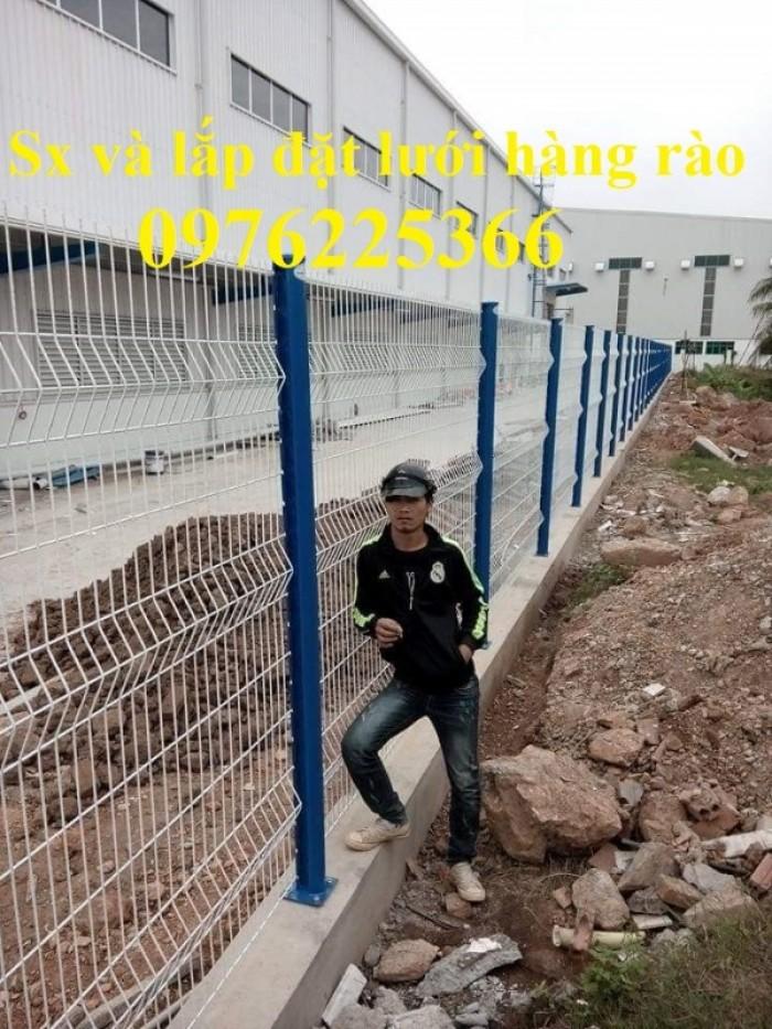 Hàng rào lưới thép mạ kẽm sơn tĩnh điện D5 a50x200 chấn sóng9
