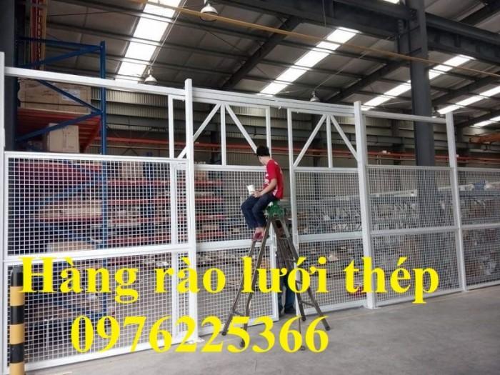 Hàng rào lưới thép mạ kẽm sơn tĩnh điện D5 a50x200 chấn sóng10