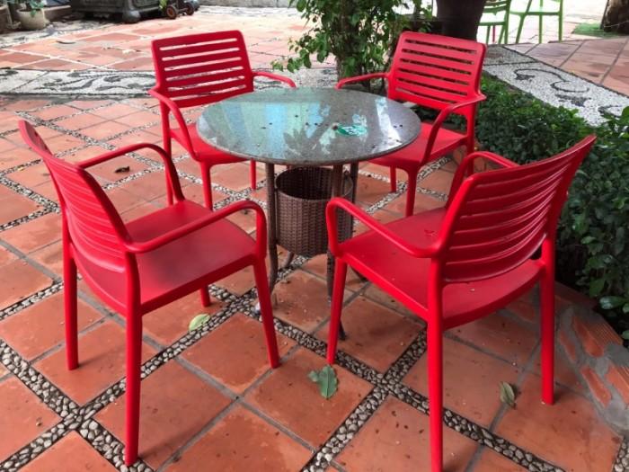Bàn ghế nhựa đúc  nhiều màu nhiều mẫu mã đa dạng giá tại xưởng3