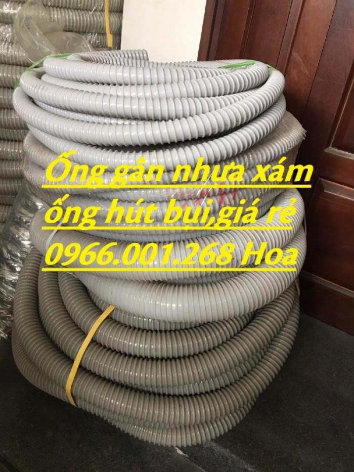 Ống gân nhựa xám, ống gân nhựa chuyên dùng hút bụi phi 100,phi 120,phi 1681