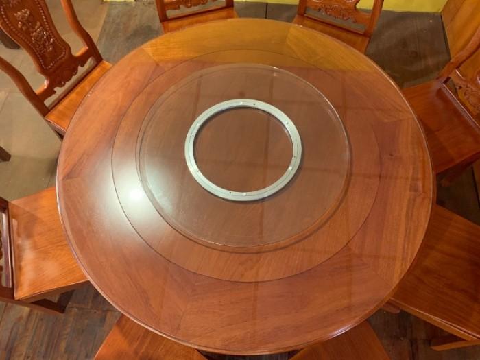 Bộ bàn ăn chạm hoa hồng siêu đẹp giá siêu rẻ3