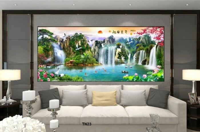 Mẫu gạch tranh ốp tường phong cảnh0