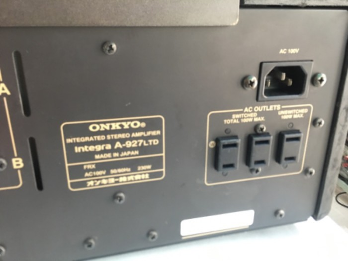 Bán chuyên ampli onkyo 927 ( LTD ) hàng bải tuyển chọn từ nhật về1