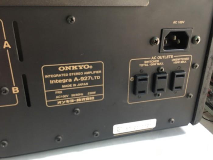 Bán chuyên ampli onkyo 927 ( LTD ) hàng bải tuyển chọn từ nhật về2