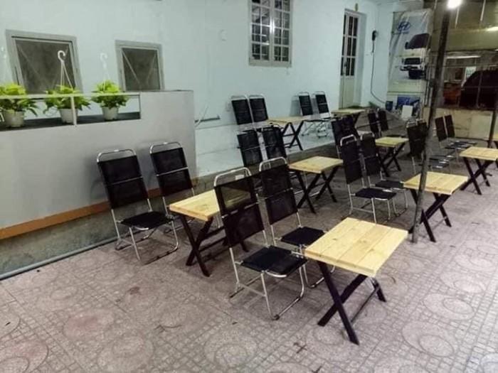 Bàn Ghế xếp quán cafe vỉa hè giá rẻ..2