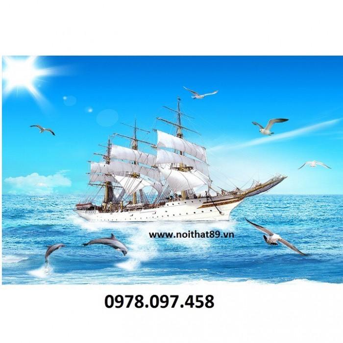 Tranh thuyền buồm xuôi gió4