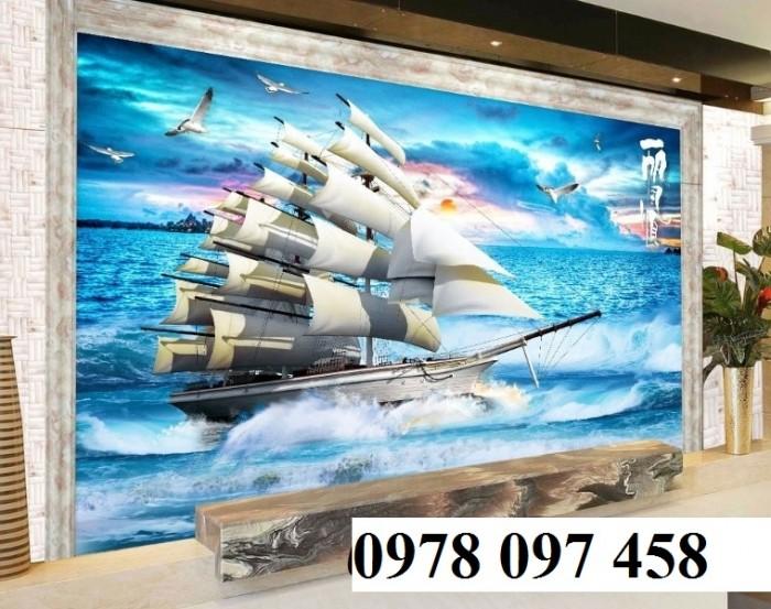 Tranh thuyền buồm xuôi gió3