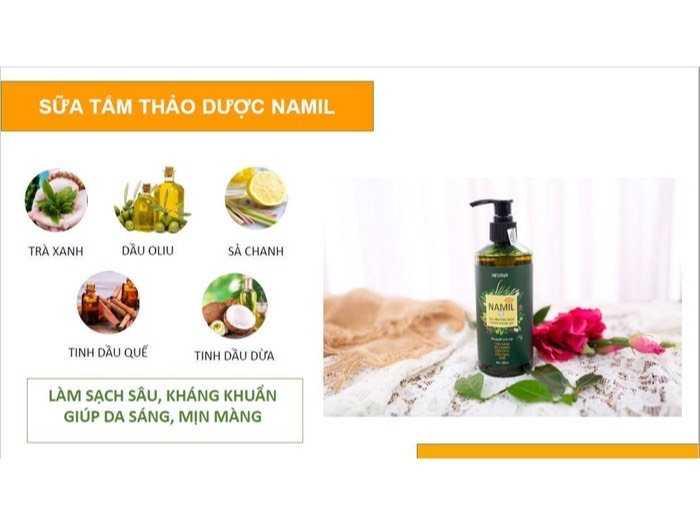 Sữa tắm thảo dược Namil 300ml0