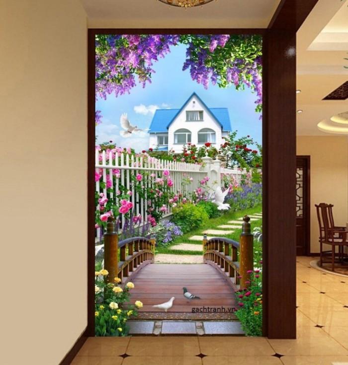 Tranh gạch 3D trang trí phòng khách4