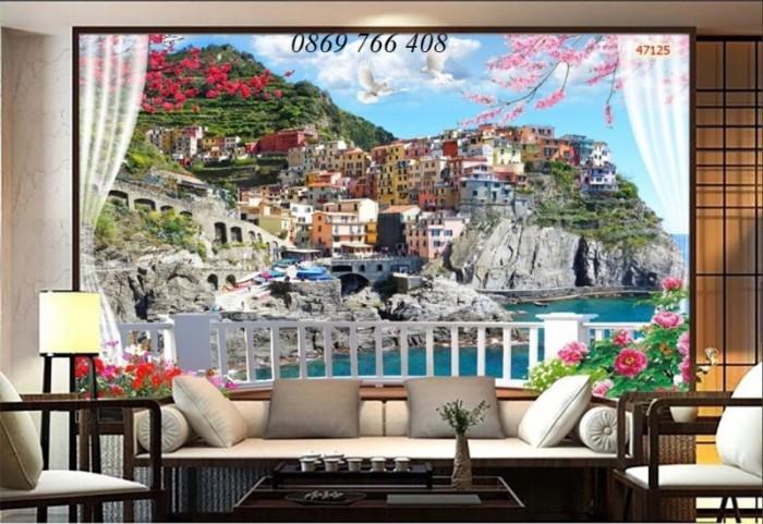 Tranh gạch 3D trang trí phòng khách2