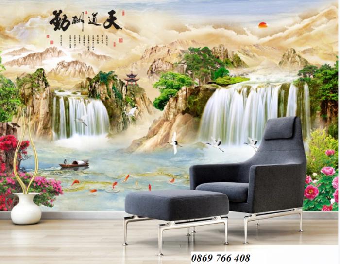Tranh gạch 3D trang trí phòng khách3