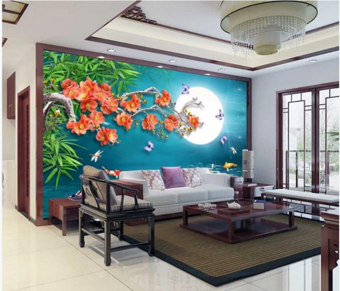 Tranh gạch 3D trang trí phòng khách8