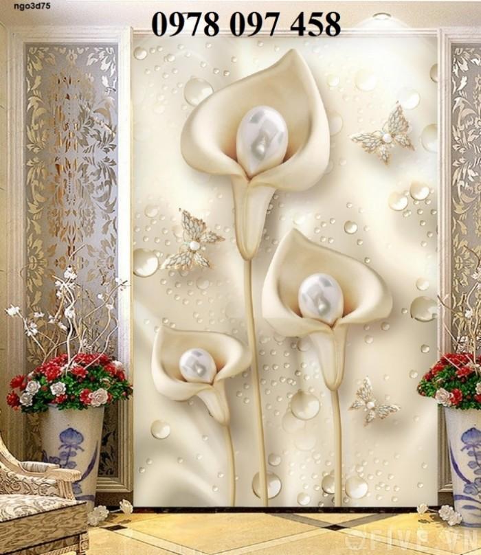 Tranh hoa đẹp - tranh gạch 3D4