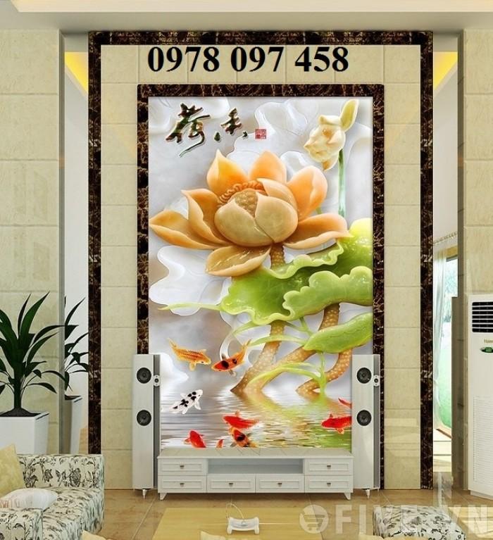 Tranh hoa đẹp - tranh gạch 3D3