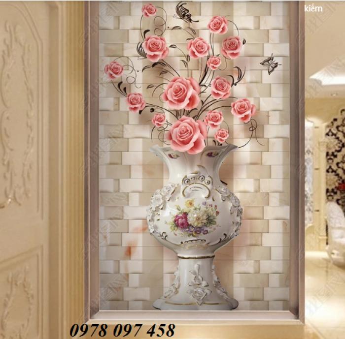 Tranh hoa đẹp - tranh gạch 3D1