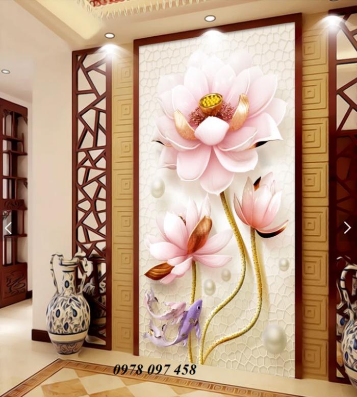 Tranh hoa đẹp - tranh gạch 3D2