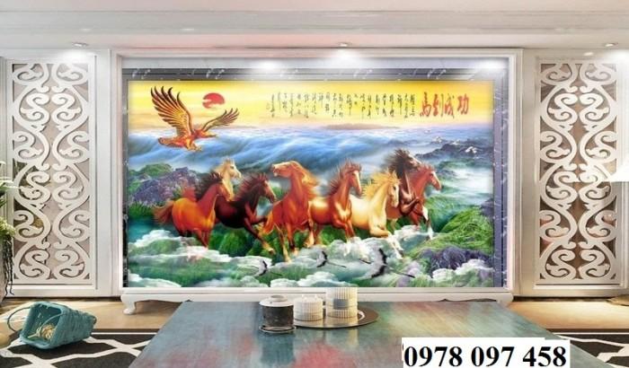 Tranh ngựa - gạch tranh phong thủy1