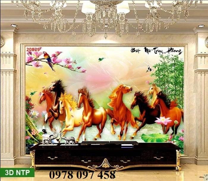 Tranh ngựa - gạch tranh phong thủy2