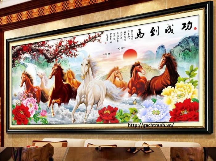 Tranh ngựa - gạch tranh phong thủy3