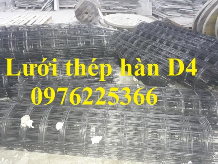 Lưới thép hàn D4 a200*200, cuộn 2x25m có sẵn0