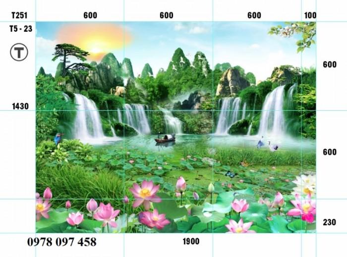 Tranh phong cảnh thiên nhiên - tranh gạch phòng khách3