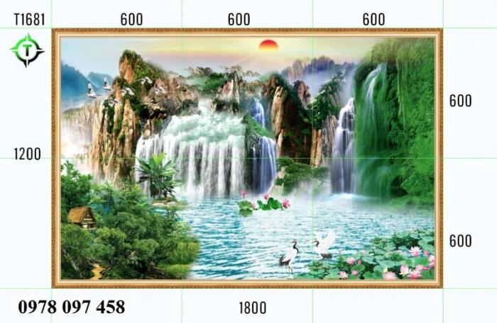 Tranh phong cảnh thiên nhiên - tranh gạch phòng khách1