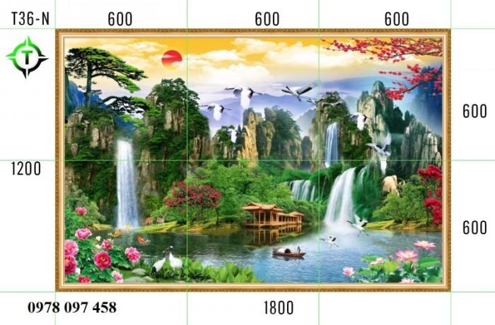Tranh phong cảnh thiên nhiên - tranh gạch phòng khách2