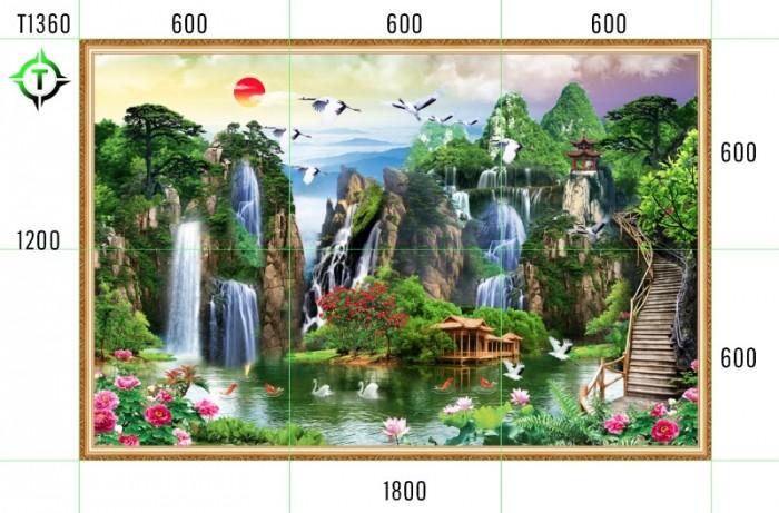 Tranh phong cảnh thiên nhiên - tranh gạch phòng khách4