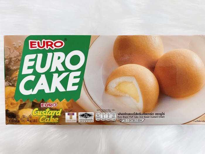 Bánh bông lan trứng Euro Cake Thái Lan- Nhân trứng sữa0
