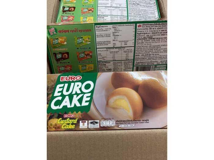 Bánh bông lan trứng Euro Cake Thái Lan- Nhân trứng sữa2