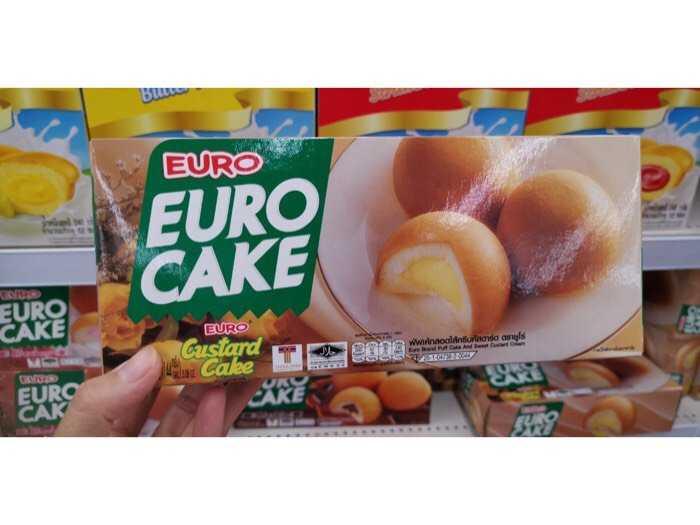 Bánh bông lan trứng Euro Cake Thái Lan- Nhân trứng sữa3