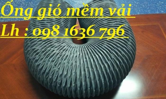 Ống gió mềm vải hút bụi thông khí có lõi thép.