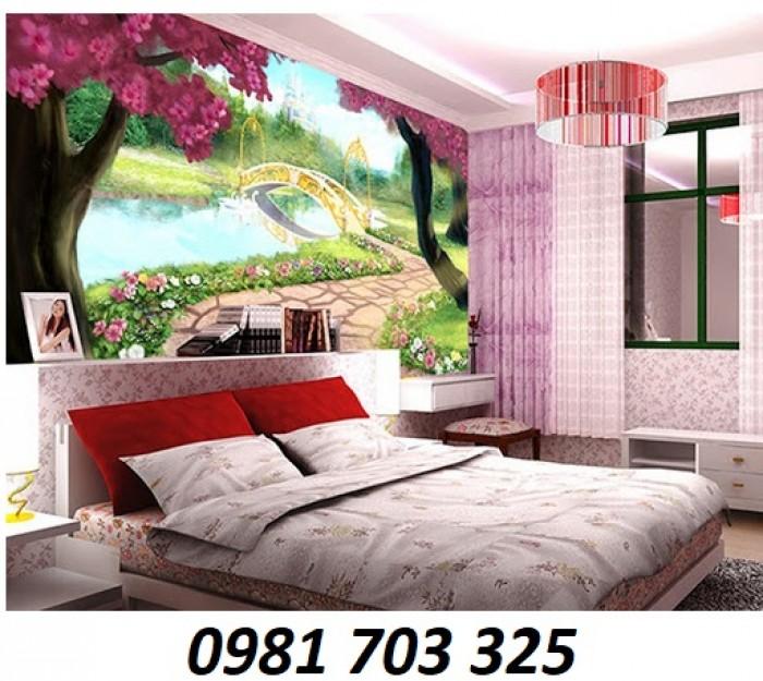 Gạch tranh 3D ốp tường phòng ngủ7