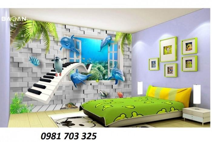 Gạch tranh 3D ốp tường phòng ngủ5