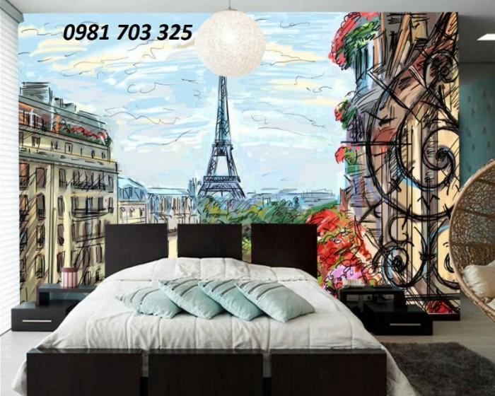 Gạch tranh 3D ốp tường phòng ngủ8
