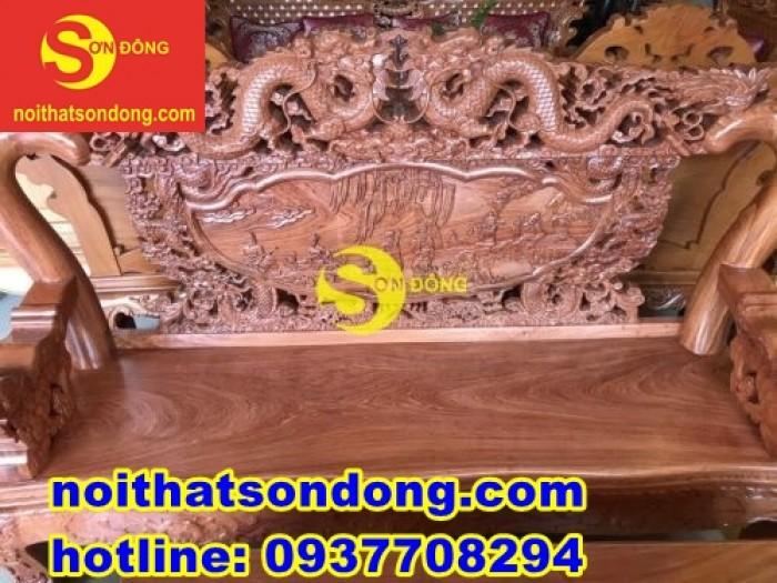 Bộ bàn ghế chạm rồng bát tiên siêu ngầu giá siêu sốc5