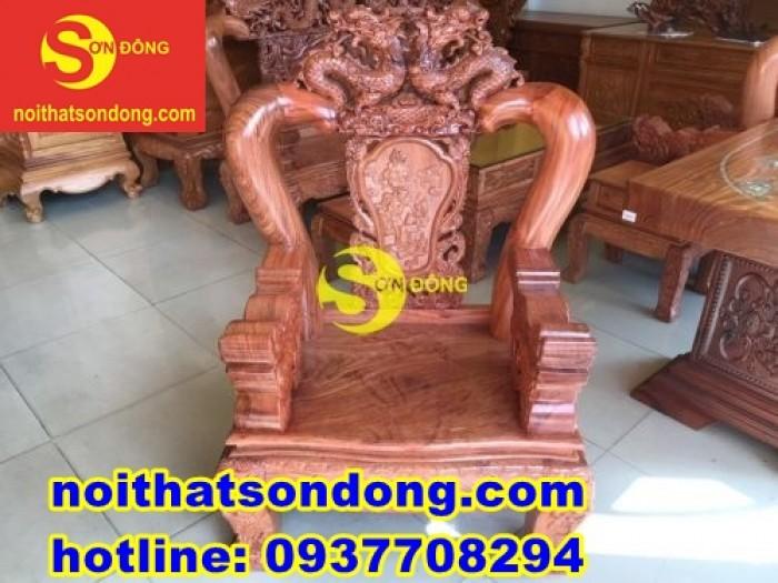 Bộ bàn ghế chạm rồng bát tiên siêu ngầu giá siêu sốc6