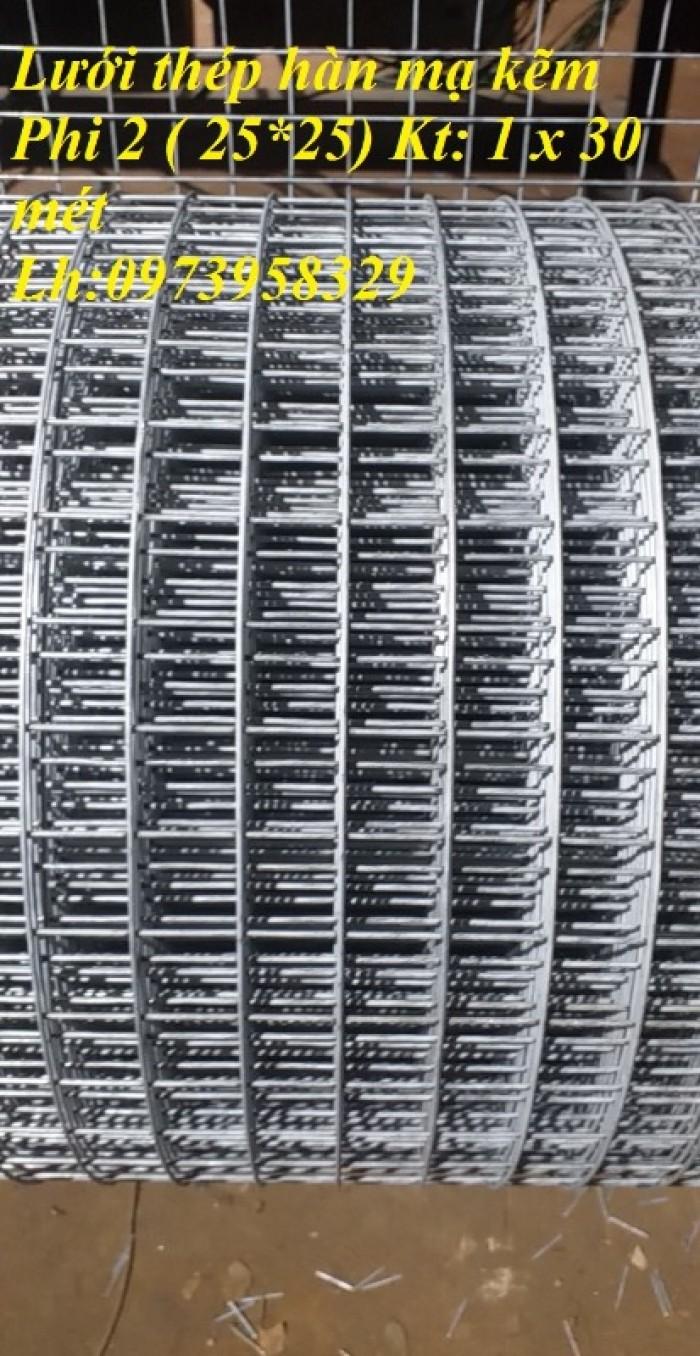 Lưới hàn mạ kẽm điện phân Phi 2 , Phi 2,5 , Phi 2.8,Phi 3 , Phi 4 giá ưu đãi1