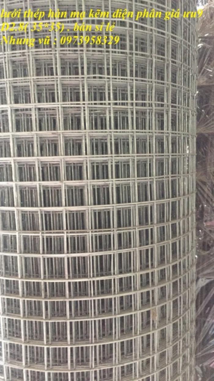 Lưới hàn mạ kẽm điện phân Phi 2 , Phi 2,5 , Phi 2.8,Phi 3 , Phi 4 giá ưu đãi5
