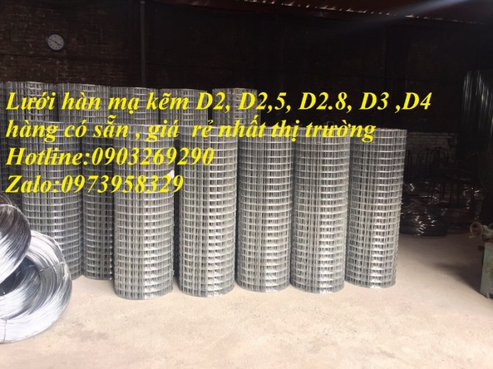 Lưới hàn mạ kẽm điện phân Phi 2 , Phi 2,5 , Phi 2.8,Phi 3 , Phi 4 giá ưu đãi19