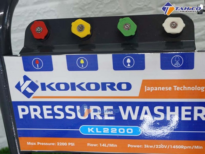 Máy rửa xe cao áp Kokoro KL2200 tại KonTum3