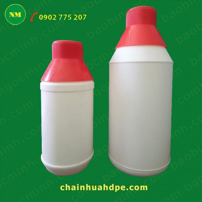 Chai nhựa hdpe, Chai nhựa 500ml, chai nhựa đựng nông dược, chai nhựa 1 lít.16