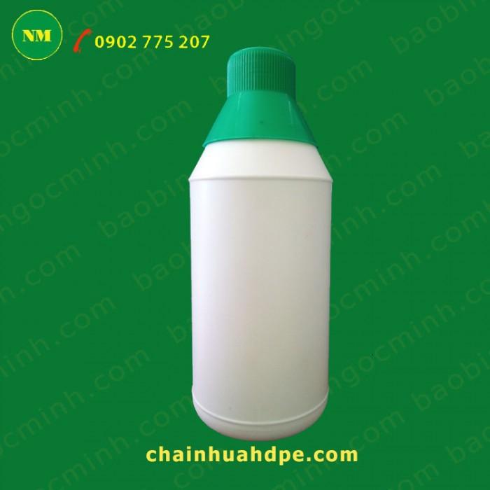 Chai nhựa hdpe, Chai nhựa 500ml, chai nhựa đựng nông dược, chai nhựa 1 lít.18