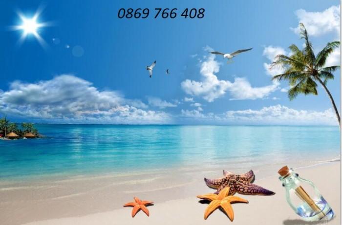Tranh gạch 3D phong cảnh bãi biển0