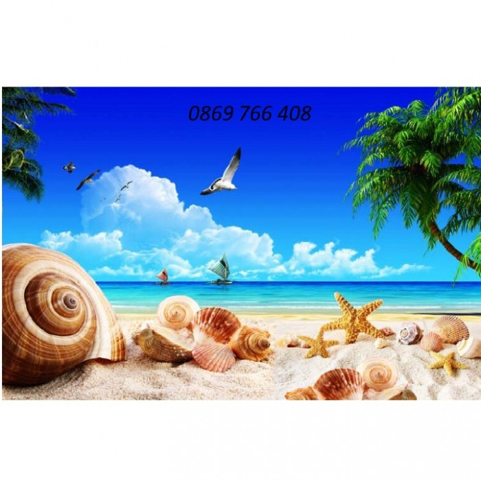 Tranh gạch 3D phong cảnh bãi biển6