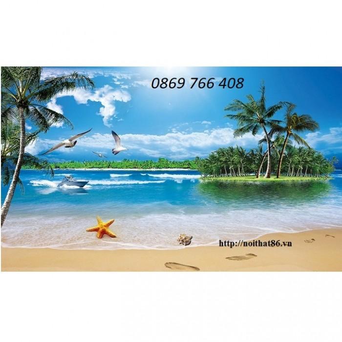 Tranh gạch 3D phong cảnh bãi biển7